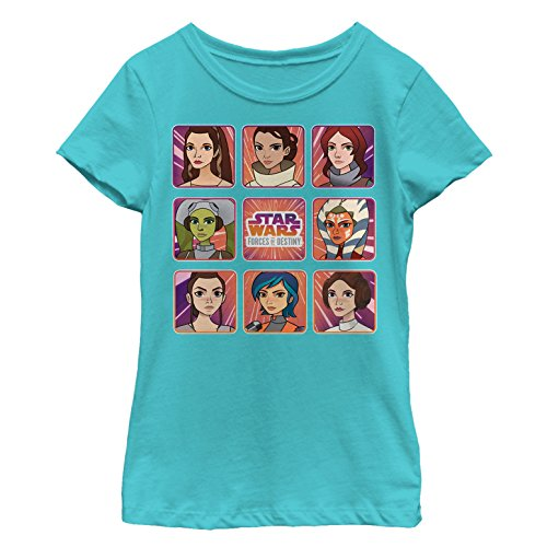 Star Wars Forces of Destiny Girls' Panels Tahiti Blue T-Shirt