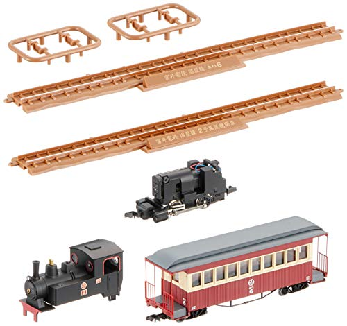 Tetsudou Collection Narrow Gauge 80 Nekoya Line Steam Engine + Passenger Car (Old paint colors) Total Set