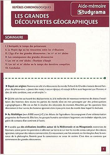 Lire des livres en ligne gratuitement sans téléchargement Les grandes découvertes géographiques PDF PDB by Didier Attiba