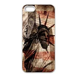 LSQDIY(R) Statue of Liberty iPhone 5,5G,5S Cover Case, DIY iPhone 5,5G,5S Case Statue of Liberty
