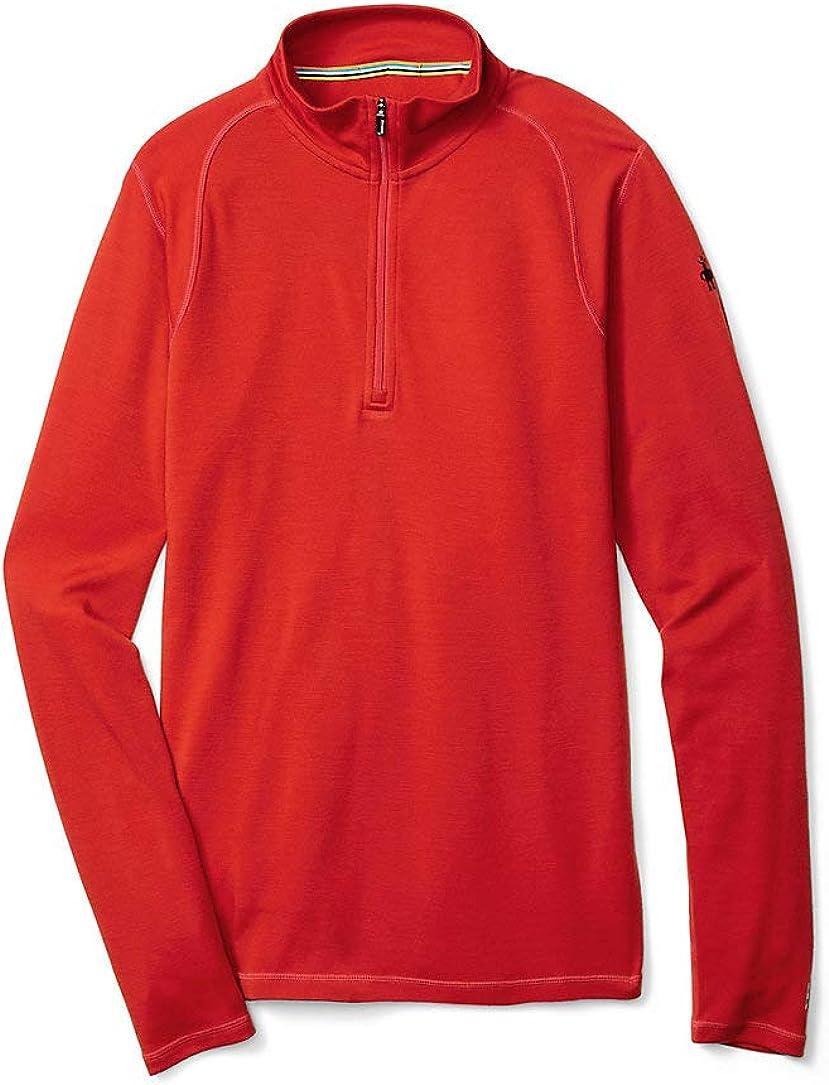 Smartwool Men's Base Layer Top - Merino 250 Wool Active 1/4 Zip Outerwear Tandoori Orange X-Large