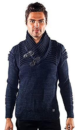 Barabas cruse Gold Leaf Blue Sweater at Amazon Men's Clothing store: