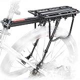 Fairbridge 110 Lbs Capacity Aluminum Alloy Bicycle Rear Rack Adjustable Pannier Bike Luggage Cargo Rack Bicycle Carrier Racks