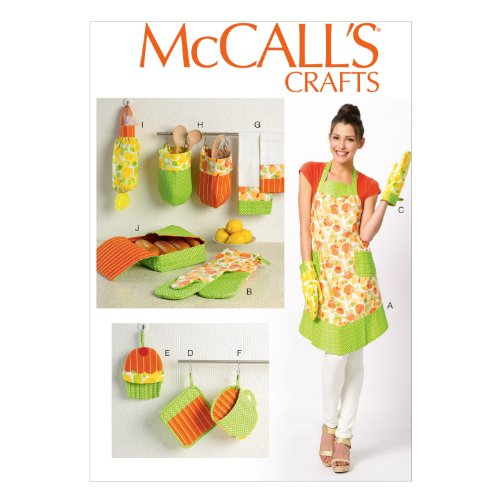 - McCall Pattern Company M6978 Apron and Kitchen Accessories, One Size Only