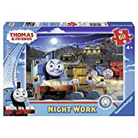 Ravensburger Thomas & Friends Night Work Glow-in-The-Dark 60 Piece Jigsaw Puzzle for Kids - Every Piece is Unique, Pieces Fit Together Perfectly