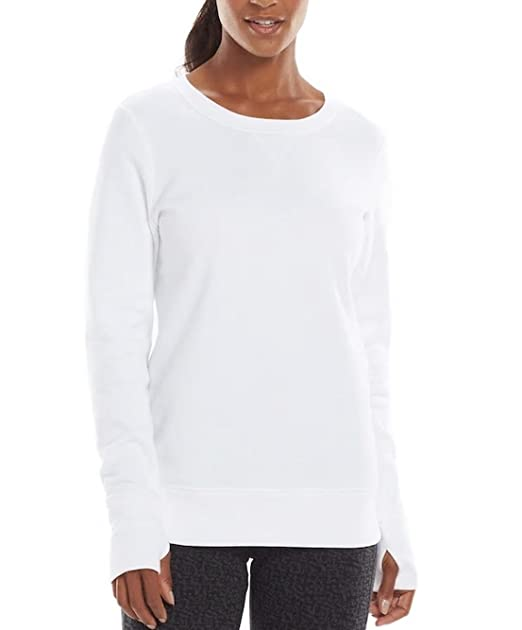 69265ee4d2 Tek Gear Women's Fleece Crewneck Sweatshirt (New White, Small) at Amazon  Women's Clothing store: