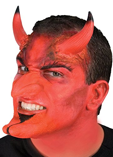 Devil Costume Makeup Male (Woochie by Cinema Secrets FX Complete Accessory Makeup Kit - Devil, Multi, One Size)