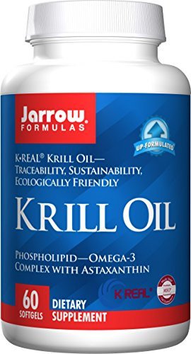 Jarrow Formulas Krill Oil, Supports Brain, Memory, Energy, Cardiovascular Health, 60 Softgels