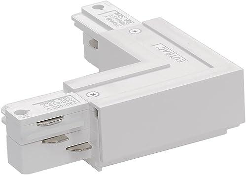 EUTRAC 3-Phasen Eckverbinder Schutzl aussen weiß