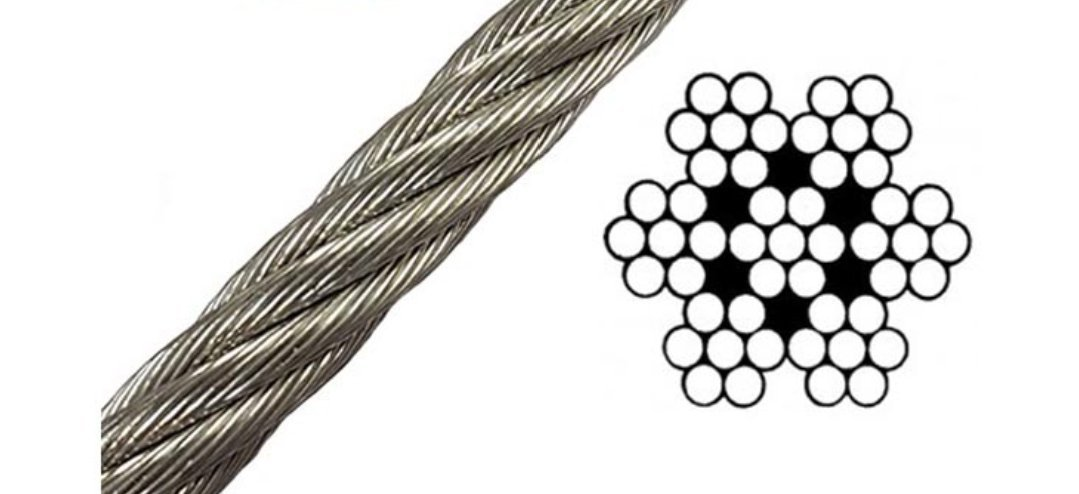 Laureola 1/16'' Stainless Steel Aircraft Wire Rope 304 Grade 7x7-100ft, 250ft, 500ft, 1000ft (250ft)