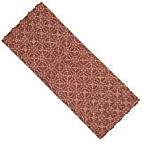 Home Collection by Raghu Marshfield Jacquard Barn Red and Tan Table Runner, 14'' x 36''