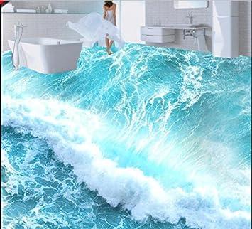 Malilove 3d Bodenbelage Custom Von Pvc Tapeten Beach Wave Boden