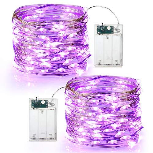 Purple Halloween Lights Outdoor - Brizled Purple Halloween Lights, 19.47ft 60