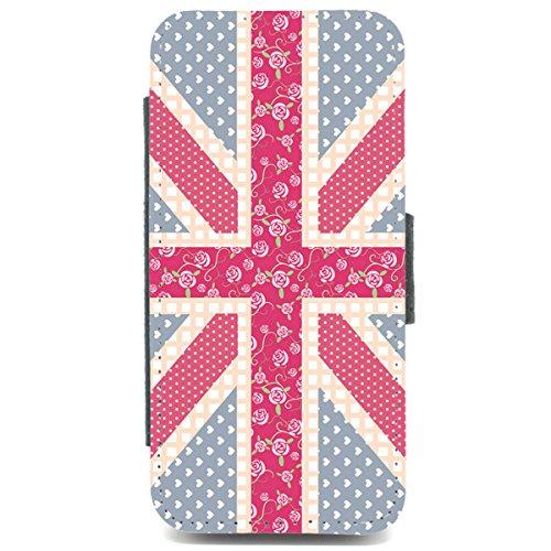 iPhone 5c Case union jack mit Blumenmuster, pinterest, pink