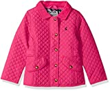Joules Little Girls' Newdale Quilted Coat, Fuchsia Pink, 6
