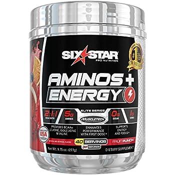 Amazon.com: Six Star Aminos Plus Energy, BCAA Powder ...
