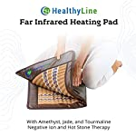 HealthyLine Amethyst Far Infrared Heating Pad - Soft, Medium, 32in x 20in with Radiant FIR Heat Therapy for Joint and Muscle Relaxation