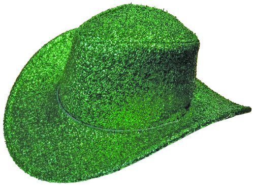 Jacobson Hat Company Women's Glitter Cowboy Hat, Green, One (Green Cowboy Hat)