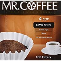 "Rockline Industries Inc JR100 ""4 tazas"" Filtro de café de 100 unidades para Mr. Coffee JR-4"