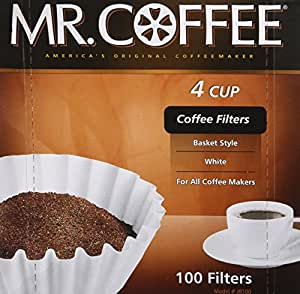 "Rockline Industries Inc JR100 ""4 Cup"" 100-Count Coffee Filter For Mr. Coffee JR-4"