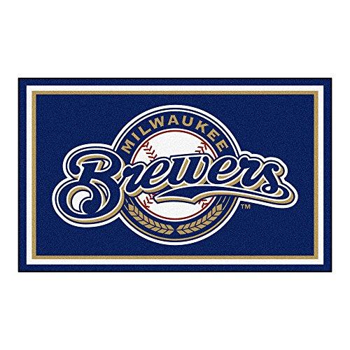 Rug Milwaukee Brewers Baseball (FANMATS MLB Milwaukee Brewers Nylon Face 4X6 Plush Rug)