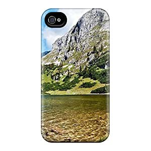 Hot Pristine Clear Lake In Austria First Grade Tpu Phone Case For Iphone 4/4s Case Cover