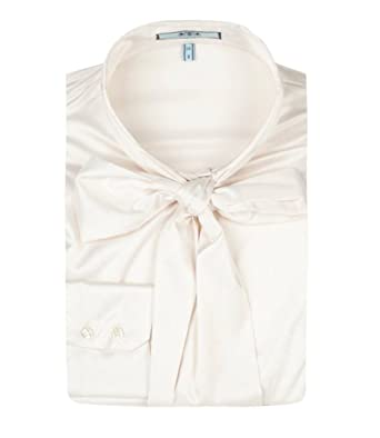 1989f0bc8c805 HAWES   CURTIS Womens Fitted Satin Pussy Bow Elegant Smart Casual Blouse