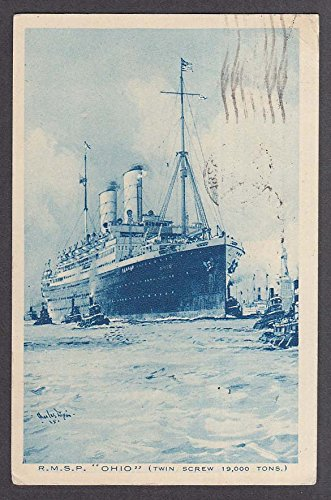 Royal Mail Steam Packet Company RMSP Ohio Twin Screw Steamer postcard 1926