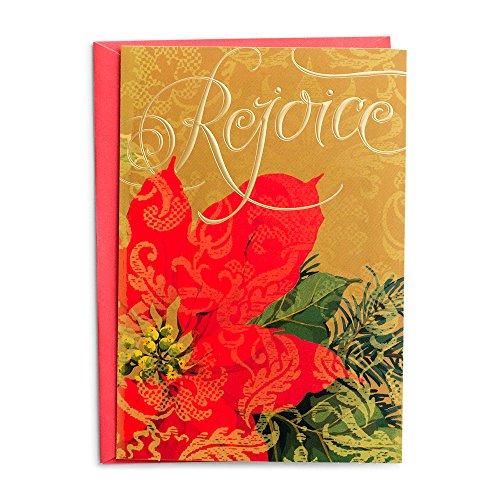 Christmas Boxed Cards - Rejoice Poinsettia (Stationery Rejoice)