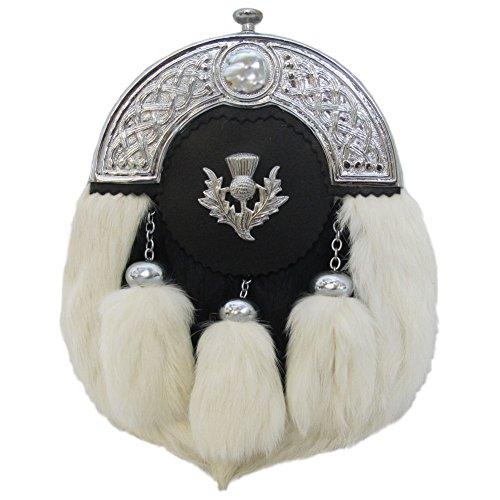 Tartanista Men's Rabbit Kilt Sporran Pouch - Thistle Badge On Flap