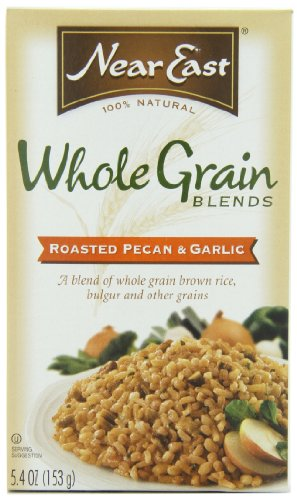 Near East Whole Grain Blends, Roasted Pecan & Garlic, with Brown Rice and Bulgur, 5.4oz Box