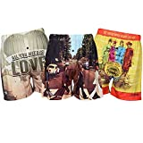 Brief Insanity Mens Boxer Shorts Fab 4 All you Need is Love Album Cover Underwear (Small, Fab 4 All You Need Is Love)