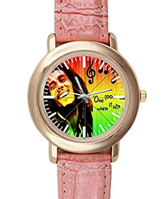 Taojing custom Bob Marley Pink Leather Alloy High-grade Watch Custom Watches for Women