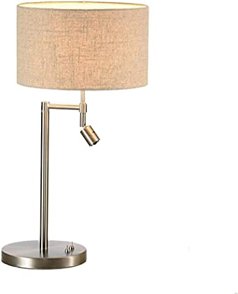 Bedside Table Lamp Reading Light and Spotlight Nightstand