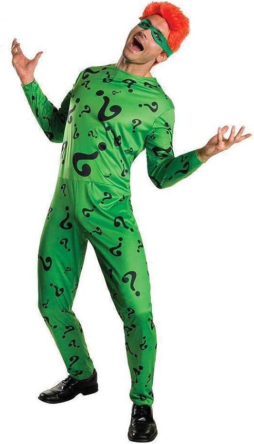 Men's The Riddler Costume Medium Green