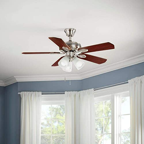 Hampton Bay Glendale 42 in. Indoor Brushed Nickel Ceiling Fan