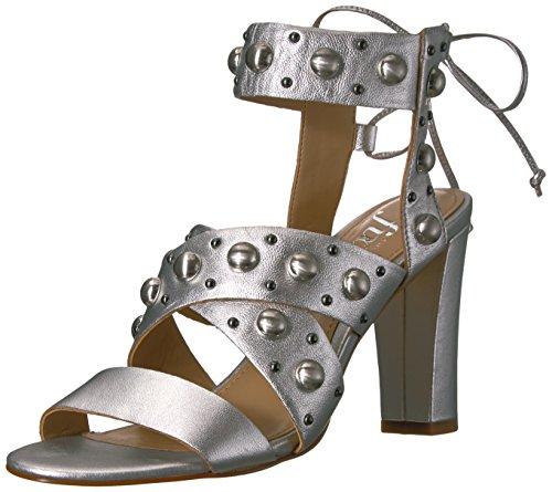 De Fix Kvinders Dawson Stud Hæl Kjole Sandal Mat Sølv / Metallic 0K5f3jX
