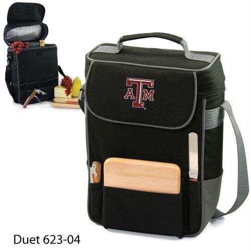 PICNIC TIME NCAA Texas A&M Aggies Duet Insulated Wine and Cheese Tote with Team Logo