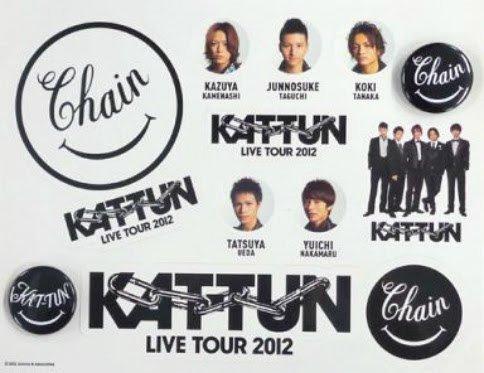 KAT-TUN 2012 Chain 缶バッジ&ステッカーセット   B01N7MD75E