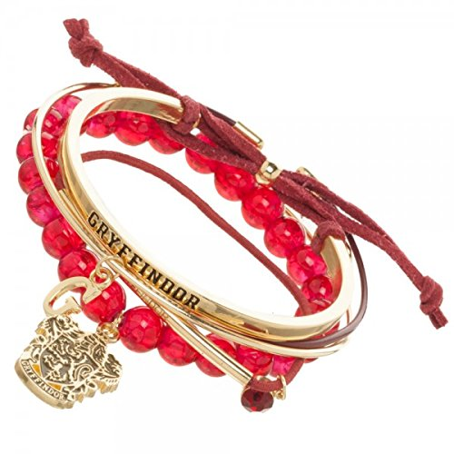 Harry Potter Gryffindor Arm Party Bracelet Set,Red & Gold,One Size