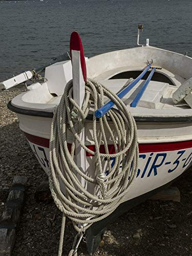 Home Comforts Laminated Poster Mediterranean Girona Sea Dali Port Lligat Boat Vivid Imagery Poster Print 11 x 17