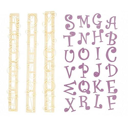 FMM Upper Case Funky Alphabet & Number Tappit Cutters Set