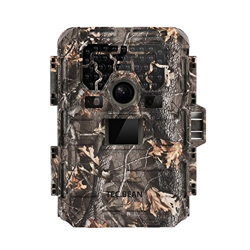 TEC.BEAN Game Trail Hunting Camera, 12MP 1080P Full HD No Glow Infrared Wildlife Camera with Night Vision up to 23M/75ft, 36pcs 940nm IR LEDs and IP66 Waterproof Surveillance Trail (Bean Hybrid)