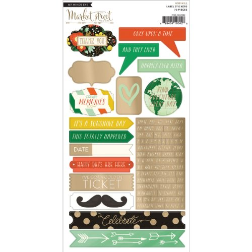 - My Mind's Eye Market Street Cardstock Stickers, Nob Hill Decorative