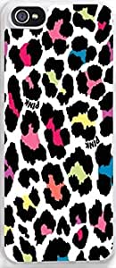 iPhone 5c Case, Ultra Slim for Apple iPhone 5c Stylish Design Custom Protective Cover Best for Your Beautiful iPhone Colorful Leopard on a white background