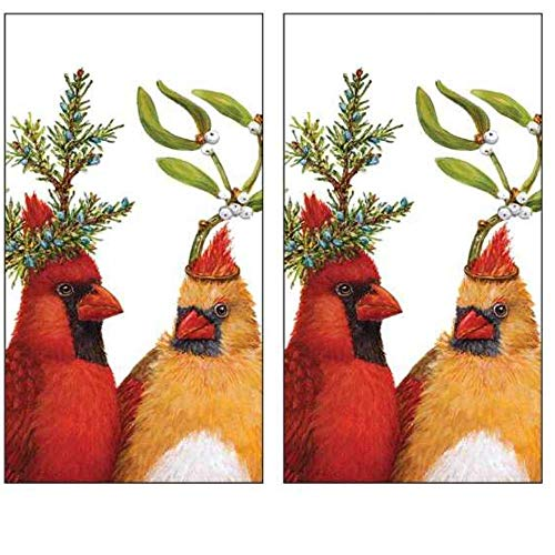 Vicki Sawyer Party Cardinal Disposable Hand Towels 30 Count Set Guest Napkins Dinner Buffet Style