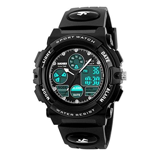Boys Watch, Multi function Watch Waterproof Kids Watch Outdoor Sports Watches Digital Watches for Boy Girl Black