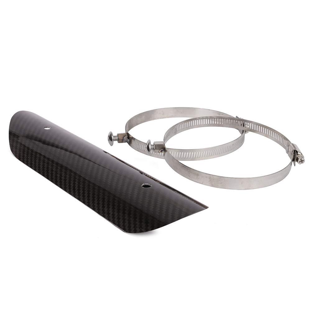 protecci/ón de Tubo de Escape Fibra de Carbono para la mayor/ía de Motocicletas Fast Pro Protector de Calor Universal para Motocicleta
