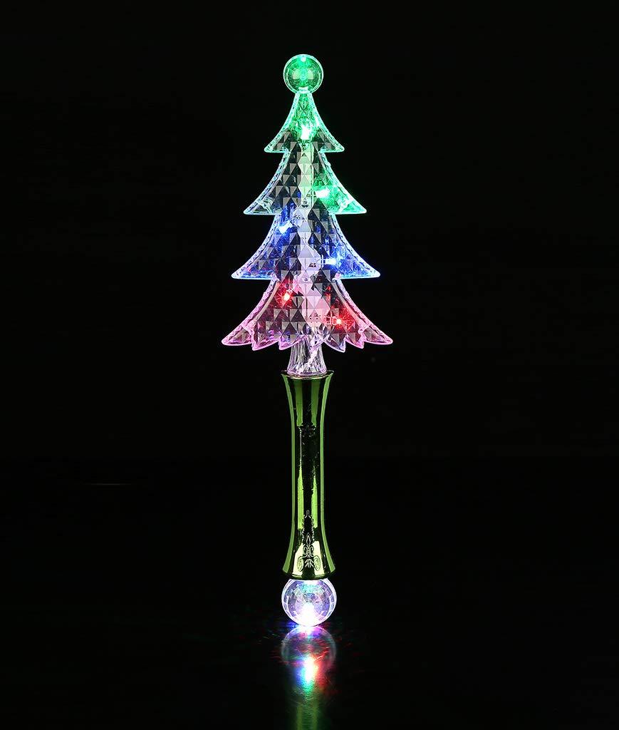 Fun Central AU538 6 Pcs LED Christmas Tree Wand Magic Wand for Kids Glow Stick Wand Light Up Wand