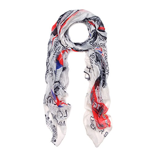 British Flag Union Jack & City Print Fashion Scarf